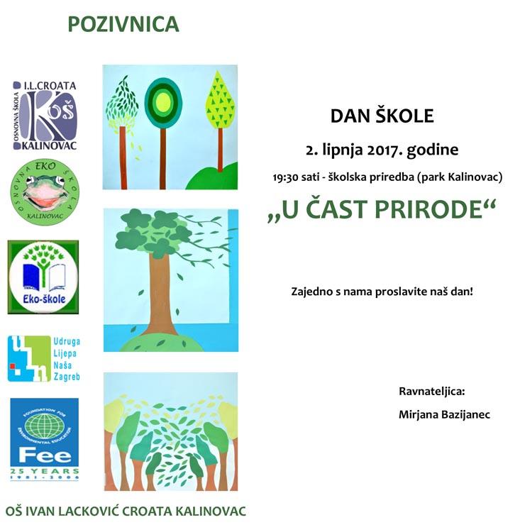 LokalnaHrvatska.hr Kalinovac Pozivnica povodom Dana skole