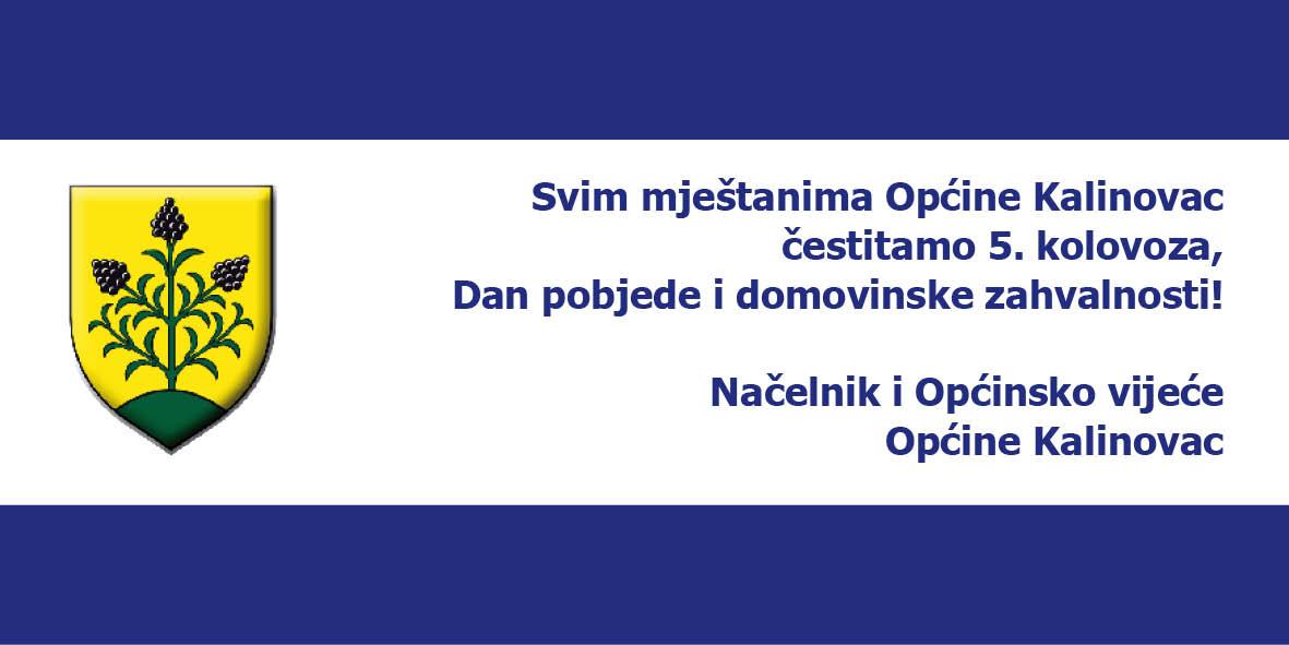 LokalnaHrvatska.hr Kalinovac cestitka povodom Dana pobjede i domovinske zahvalnosti