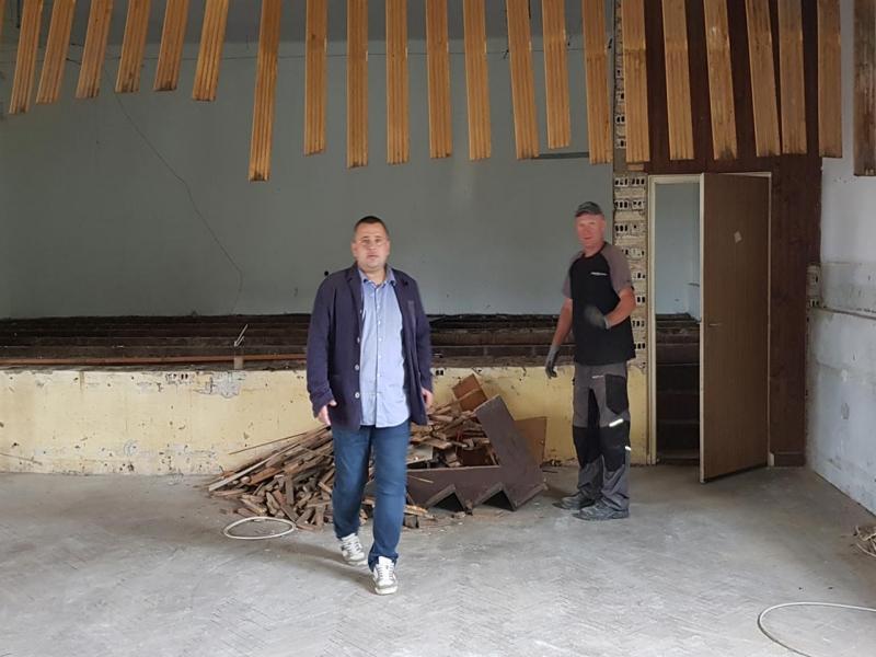 Počeli su radovi na obnovi Društvenog doma u Kalinovcu