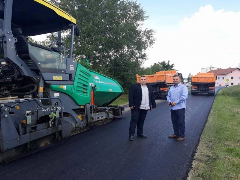 Zamjenik župana Darko Sobota i načelnik Danijel Zvonar obišli radove na obnovi dijela ŽC 2214 -Kalinovac (Separacija)